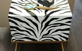Painted Zebra Print Box and Gold Wax