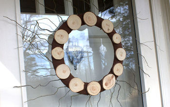 Wood Slice Wreath for Winter
