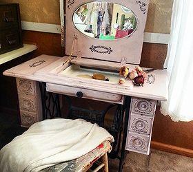 Repurposed Sewing Machine Table to Vanity | Hometalk