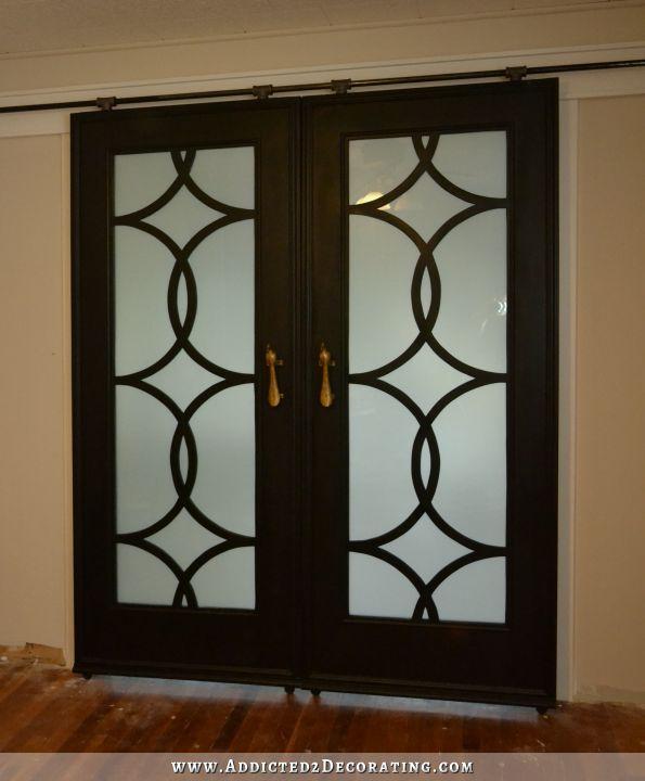 diy barn door style doors with a twist, doors, The finished rolling barn door style doors