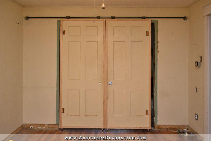 Diy Barn Door Style Doors With A Twist Hometalk