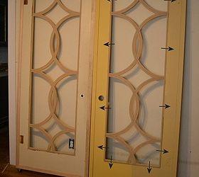 diy barn door style doors with a twist doors Fretwork panels added to the & DIY Barn Door-Style Doors With A Twist   Hometalk