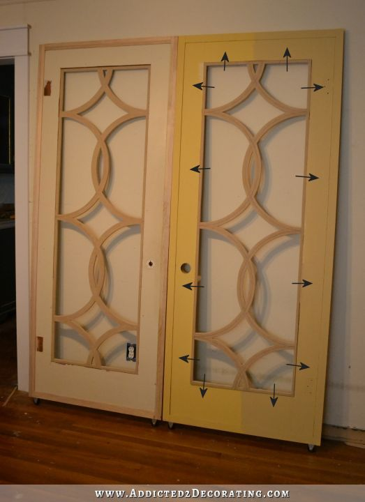 Fretwork panels added to the doors.