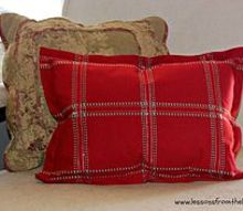 5 minute flanged pillow tutorial, crafts, how to, reupholster