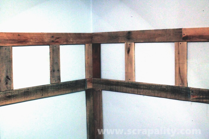 add wainscoting to walls using pallet wood, pallet, wall decor