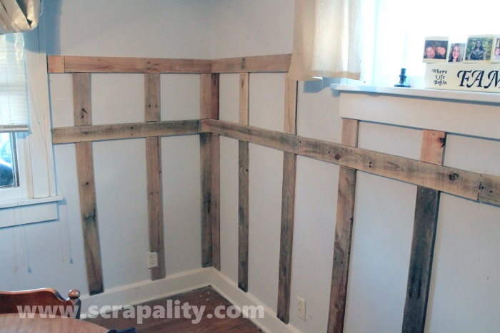 Add Wainscoting To Walls Using Pallet Wood Wall Decor