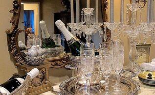 new year s eve serving bar, home decor, living room ideas, seasonal holiday decor, urban living