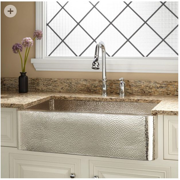 Advice About A Nickel Plated Hammered Copper Farmhouse Sink Hometalk