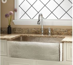 Should I Buy A Nickel Plated Hammered Copper Farmhouse Sink? | Hometalk