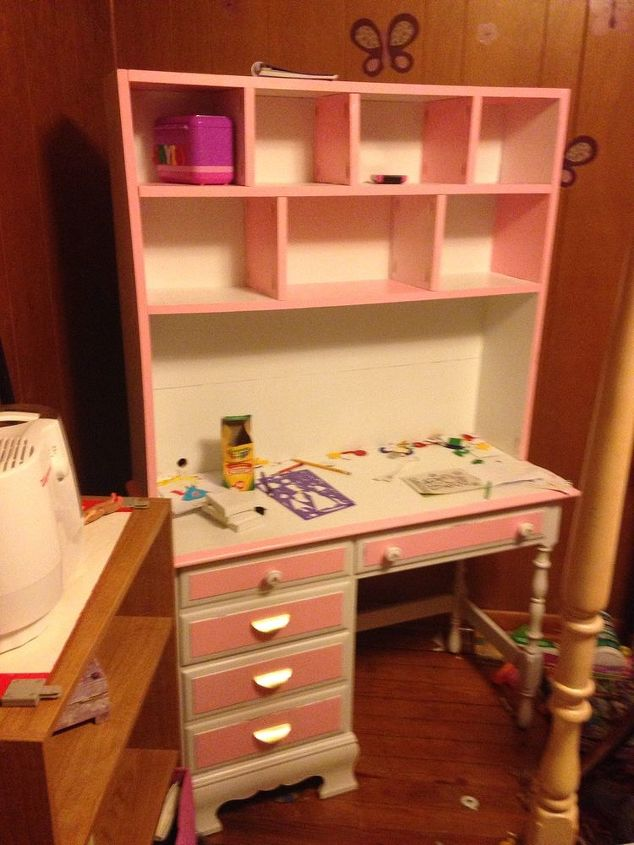 Refurbished Child S Desk To With Hutch Hometalk