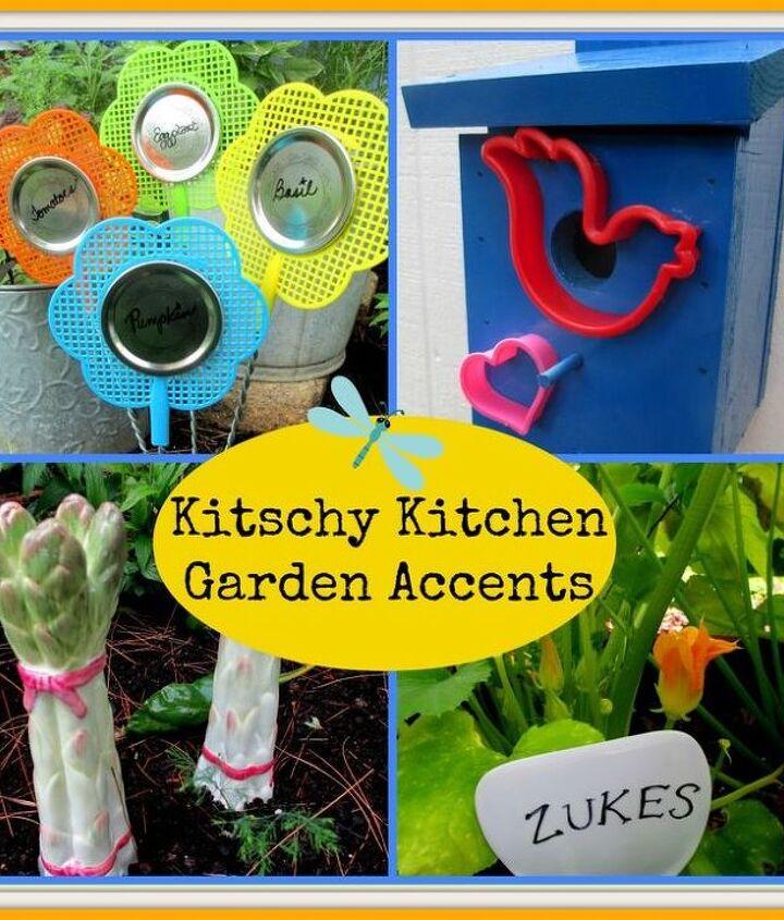 Kitschy Kitchen Garden Accents