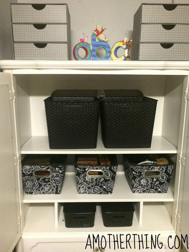 Revamp A Plain TV Cabinet Into A Funky Storage Cabinet