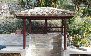 small croatian pergola, concrete masonry, outdoor furniture, outdoor living, tiling