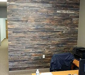 accent wall made with pallet wood home