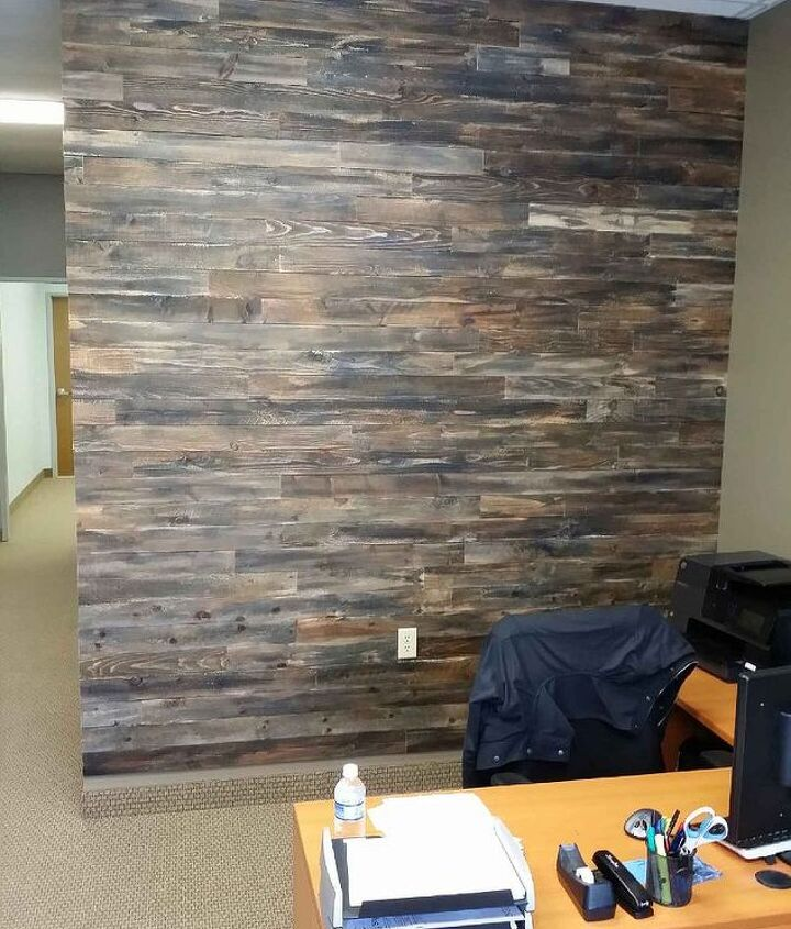 accent wall made with pallet wood, home decor, pallet, wall decor