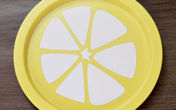 DIY Citrus Plates From the Dollar Store