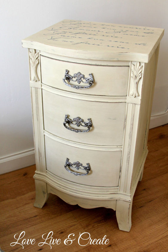 cute old furniture transformed into romantic shabby chic nightstand