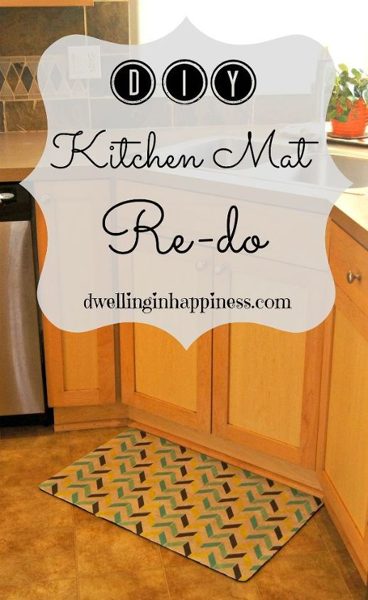 diy kitchen mat re do, crafts, decoupage, how to, kitchen design, reupholster