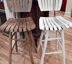 mid century bar stool makeover painted furniture