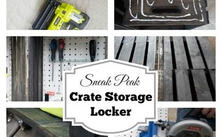 building a storage locker out of crates, craft rooms, diy, storage ideas