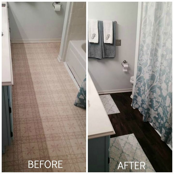 Peel And Stick Brown Tiles For Bathroom Floor Hometalk