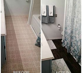 Peel And Stick Brown Tiles For Bathroom Floor, Bathroom Ideas, Flooring, Tile  Flooring