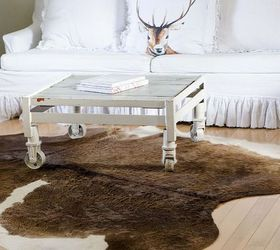 Chandeliers And Cow Hide Rugs In White Living Room Decor, Home Decor,  Lighting,