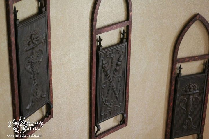 fireplace screen restyled into wall art, diy, painting, repurposing upcycling