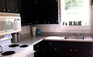 board and batten backsplash with leftover faux wood blinds, how to, kitchen backsplash, kitchen design, painting