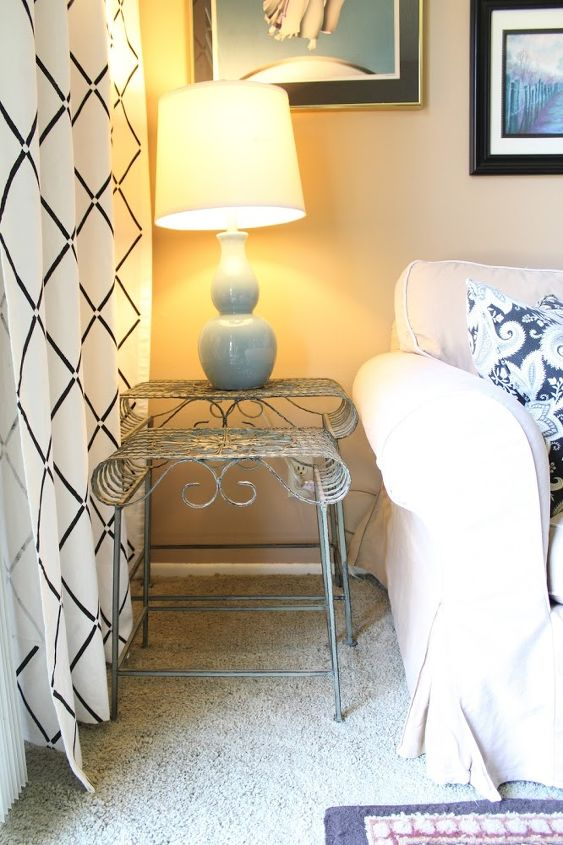 Stenciled Curtains In A Family Room Makeover | Hometalk