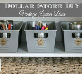 Dollar Store Diy Vintage Locker Bins, Crafts, Organizing, Storage Ideas