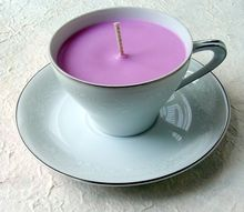 fix scratched dishes diy teacup candles, crafts, repurposing upcycling