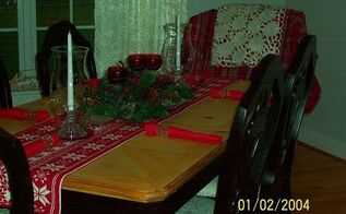 updated dining room table and chairs, painted furniture