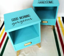 upcycled painted signature nightstands, chalk paint, painted furniture