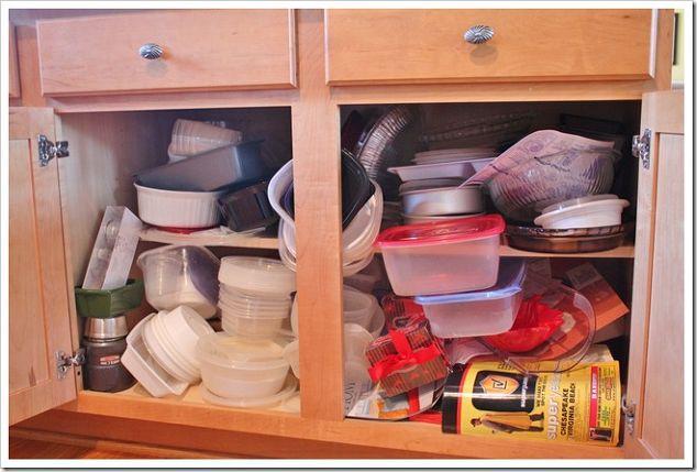 Plastic Ware Cabinet Organization Hometalk