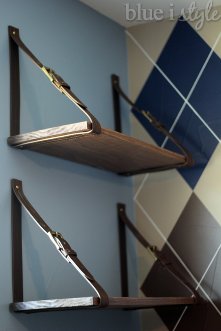 Using Mens Belts To Create Cool Hanging Shelves Shelving Ideas