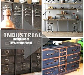 Industrial Inspired Living Room, Crafts, Organizing, Painted Furniture