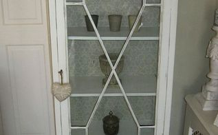 repainted display cabinet, painted furniture