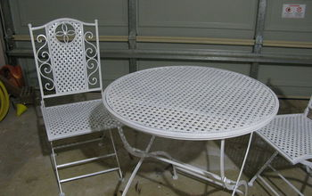 revamped and repainted outdoor set, outdoor furniture, painted furniture