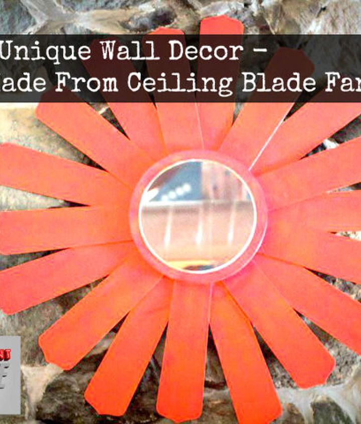 unique wall decor made from ceiling fan blades, home decor, wall decor