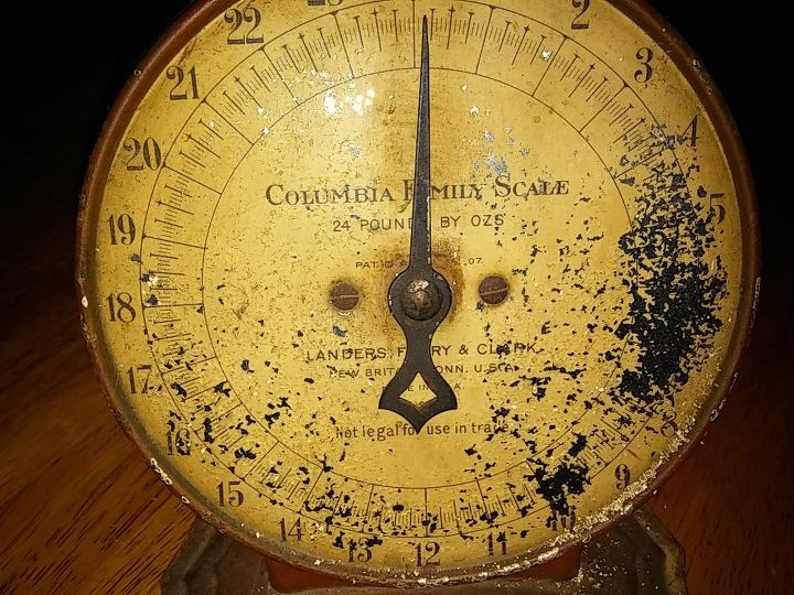 has anyone restored or cleaned up a vintage kitchen scale, kitchen design