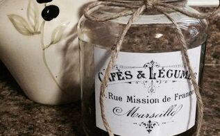 diy pickle jar turned vintage french coffee or food storage container, crafts, repurposing upcycling, storage ideas