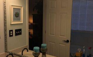 how to frame a bathroom mirror with mosaic tile, bathroom ideas, how to