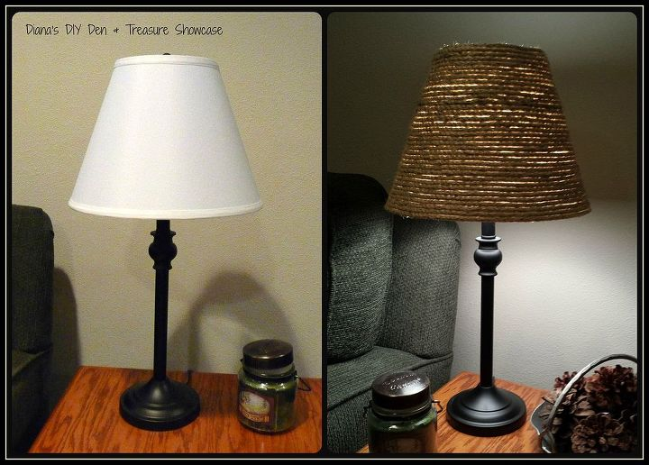 Sisal Rope Lamp Shade Makeover Hometalk