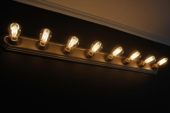quick and easy vanity light update, bathroom ideas, lighting