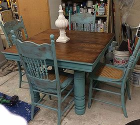 Farm Table And Chair Updo, Chalk Paint, Painted Furniture, Repurposing  Upcycling, Shabby