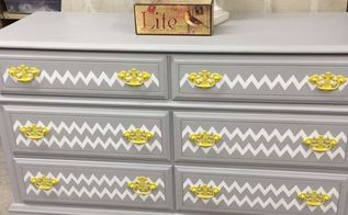 shabby chic grey repainted dresser, chalk paint, painted furniture, repurposing upcycling