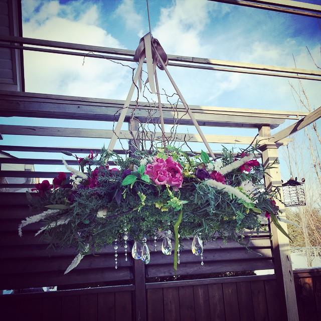 diy organic chandelier tutorial, crafts, flowers, how to, lighting, repurposing upcycling