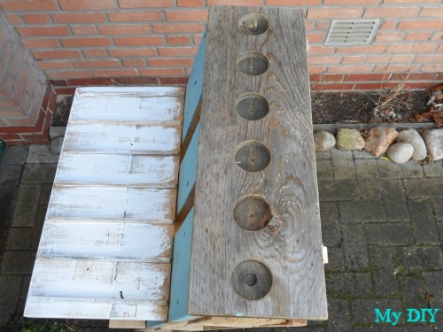pallet candle art piece, pallet, repurposing upcycling, woodworking projects