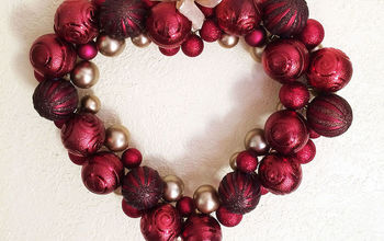 Valentine Ornament Wreath - Using a Clothes Hanger